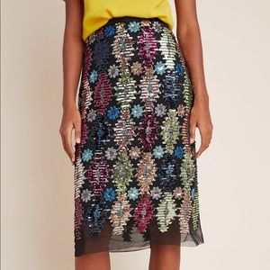 Anthropologie Eva Franco | Ophelia Sequin Skirt